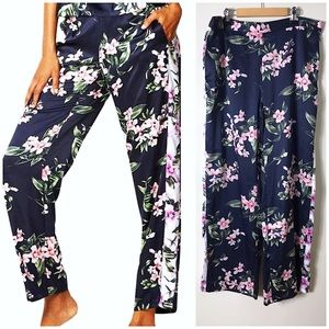 Victoria's Secret Floral Satin Relaxed Lounge Pant